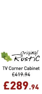 Original Rustic Corner TV Cabinet