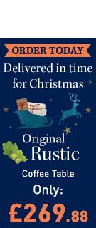Original Rustic Solid Oak Storage Coffee Table