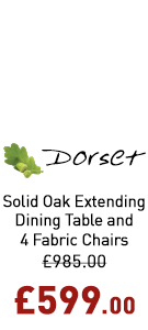 Dorset 3ft Extending Dining Set