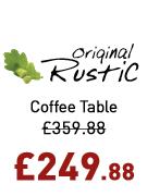 Original Rustic Storage Coffee Table