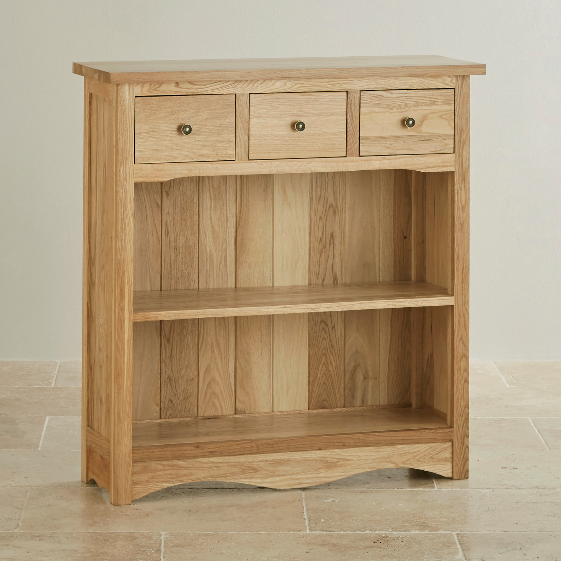 Cairo Natural Solid Oak Small Display Unit By Oak