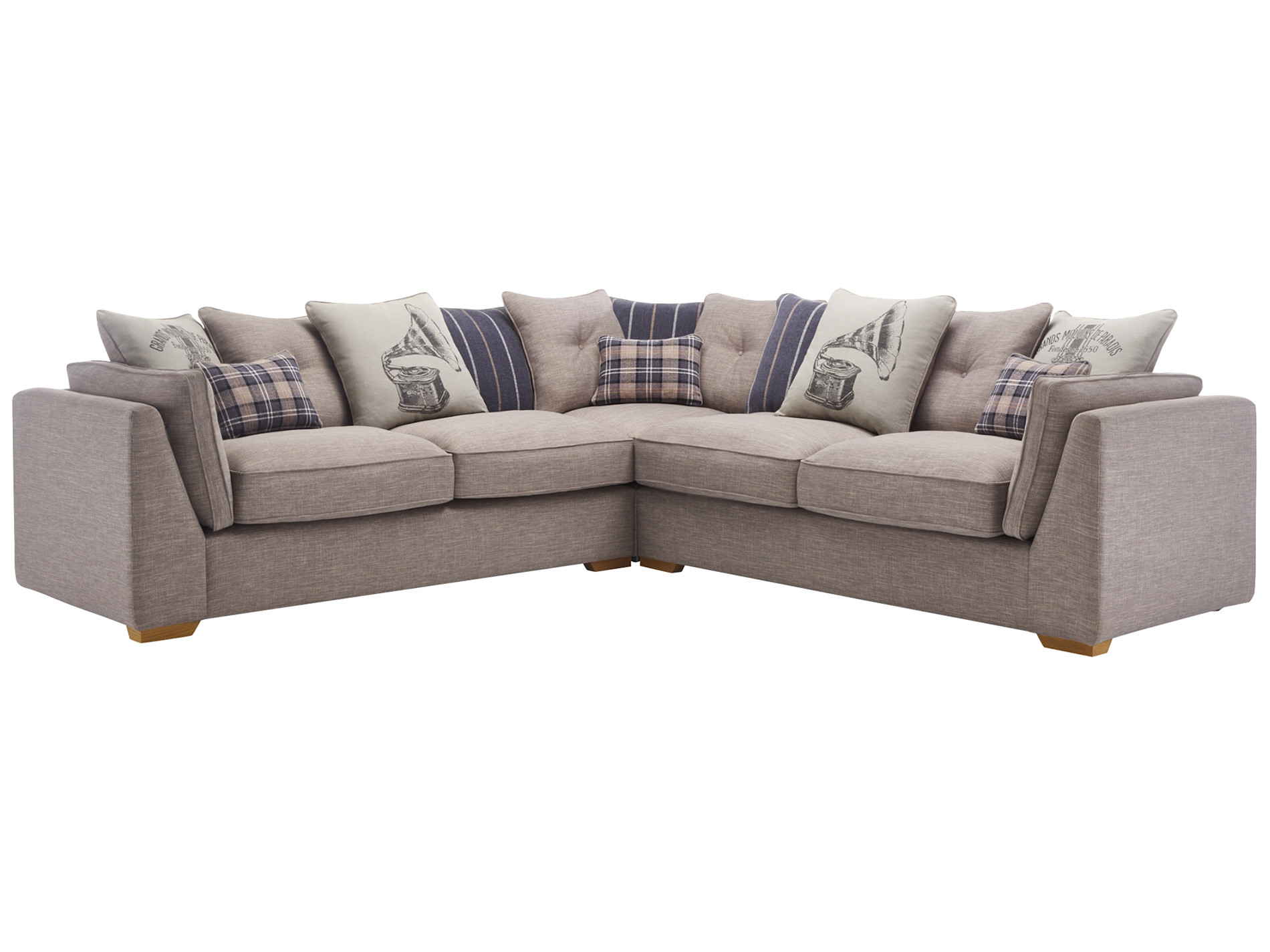 california 4 seater pillow back corner sofa civic smoke. Black Bedroom Furniture Sets. Home Design Ideas