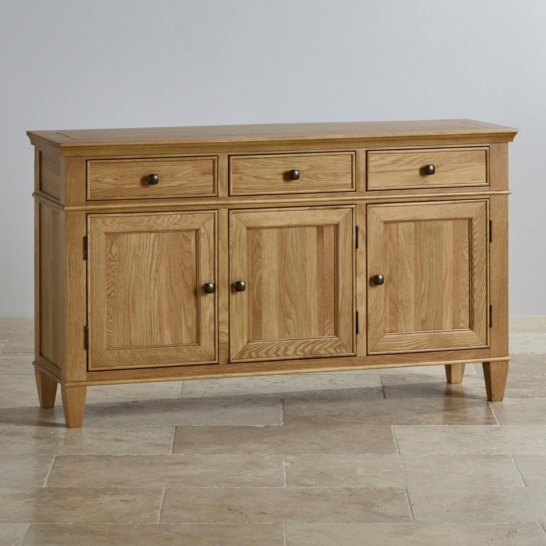 Classic large sideboard in natural solid oak by oak for Oak furniture land