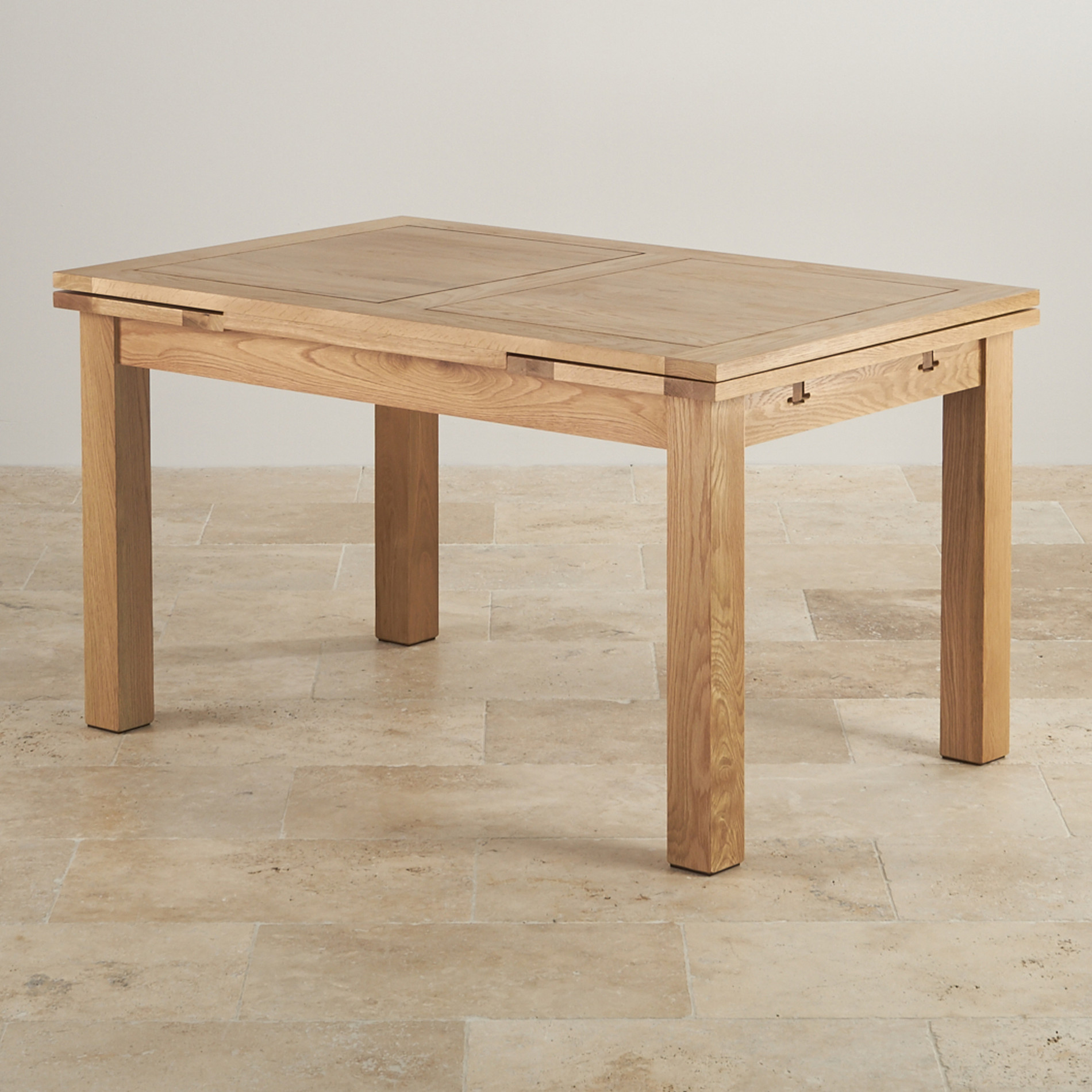Dorset 4ft 7 natural oak extending dining table seats up to 8 for Table cuisine 70 x 100