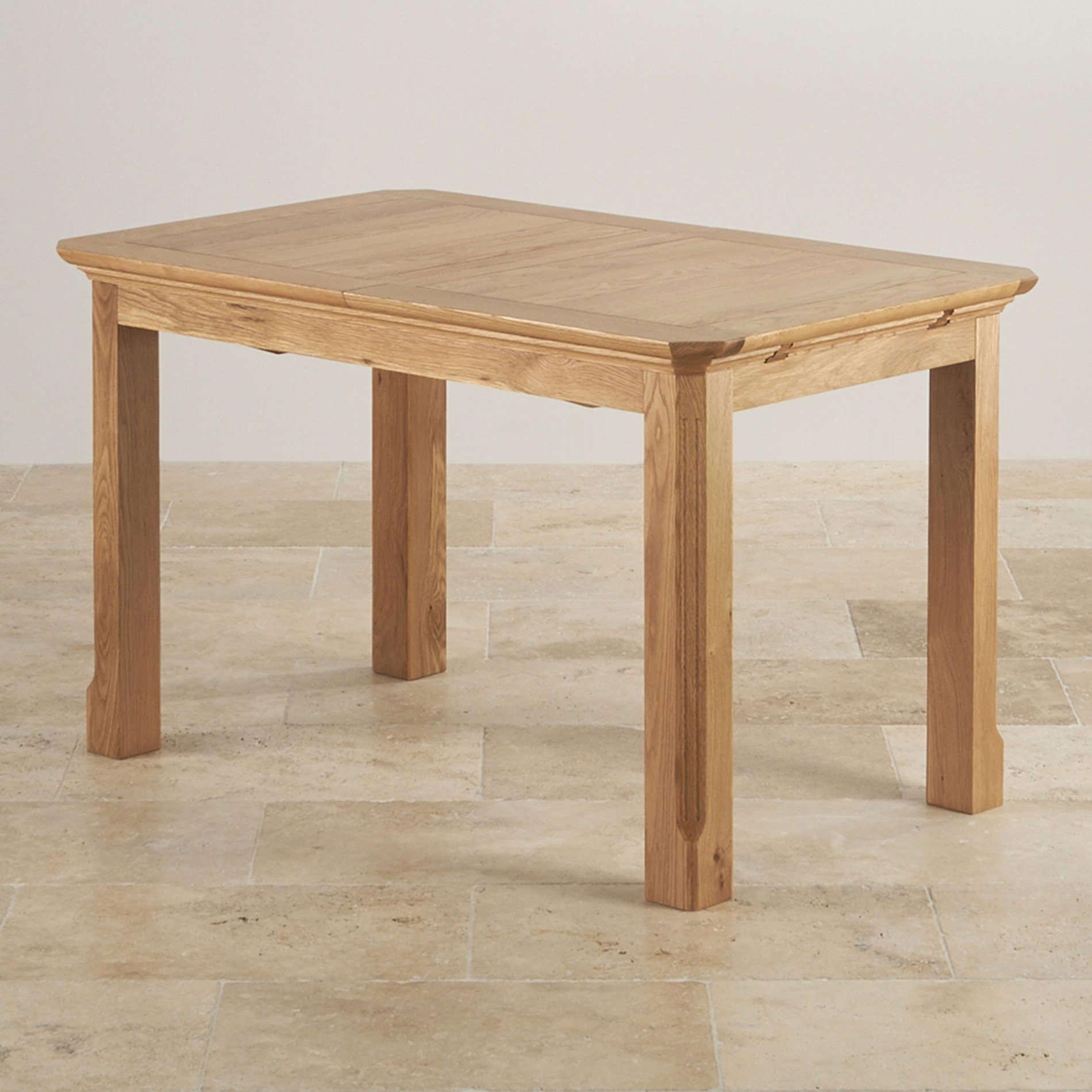 Christmas Delivery Edinburgh Natural Solid Oak 4ft 3 X 2ft 7 Extending Dining Table