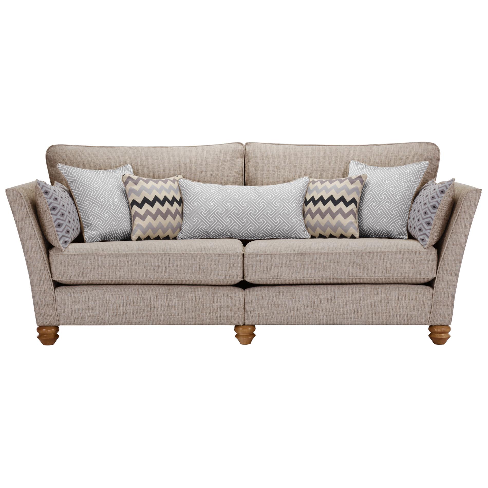 Gainsborough 4 seater sofa in silver oak furniture land for Furniture land