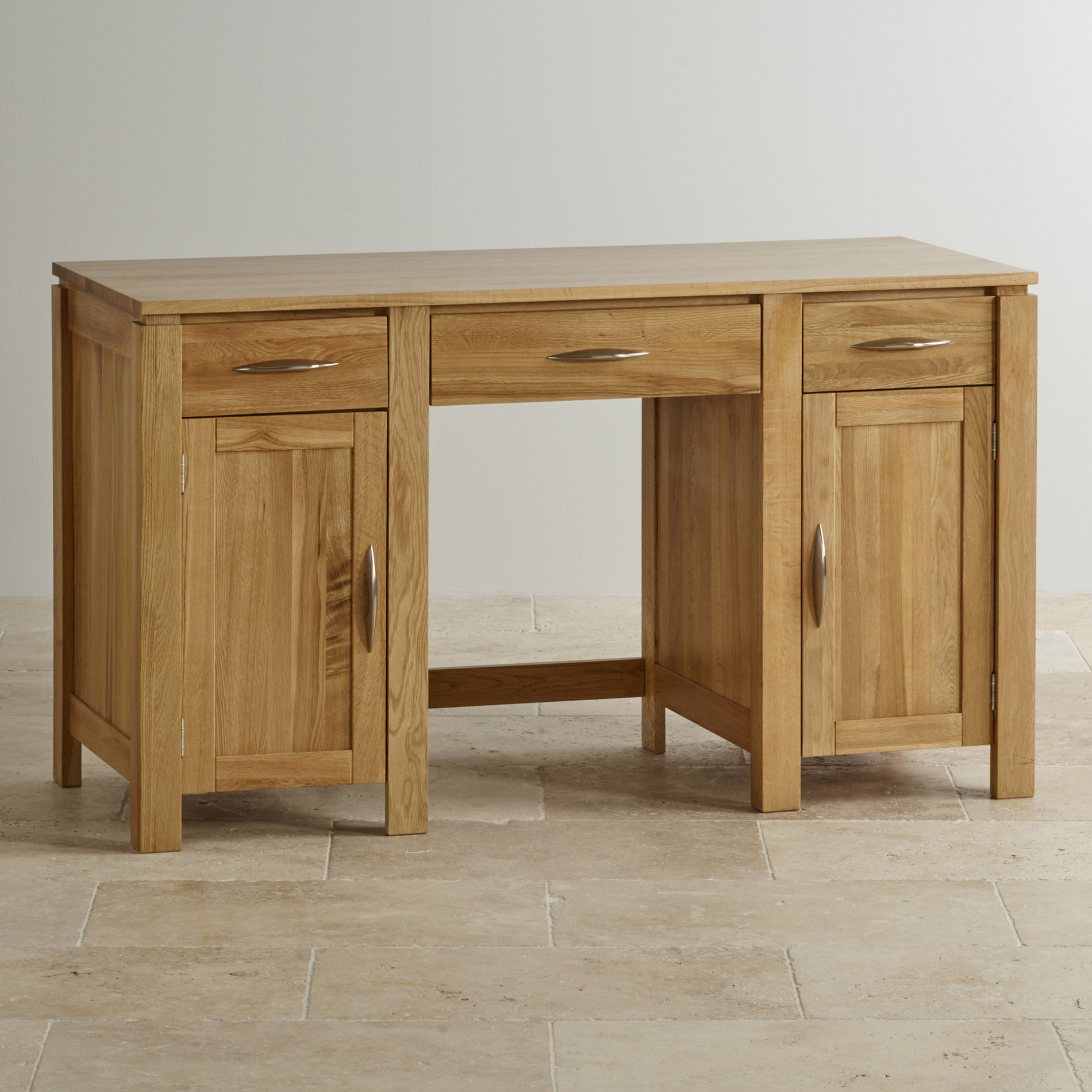 Galway Large Computer Desk In Solid Oak Oak Furniture Land