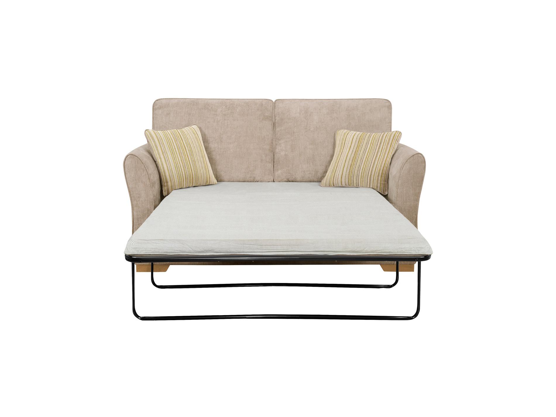 Jasmine 2 Seater Sofa Bed With Standard Mattress In Linen