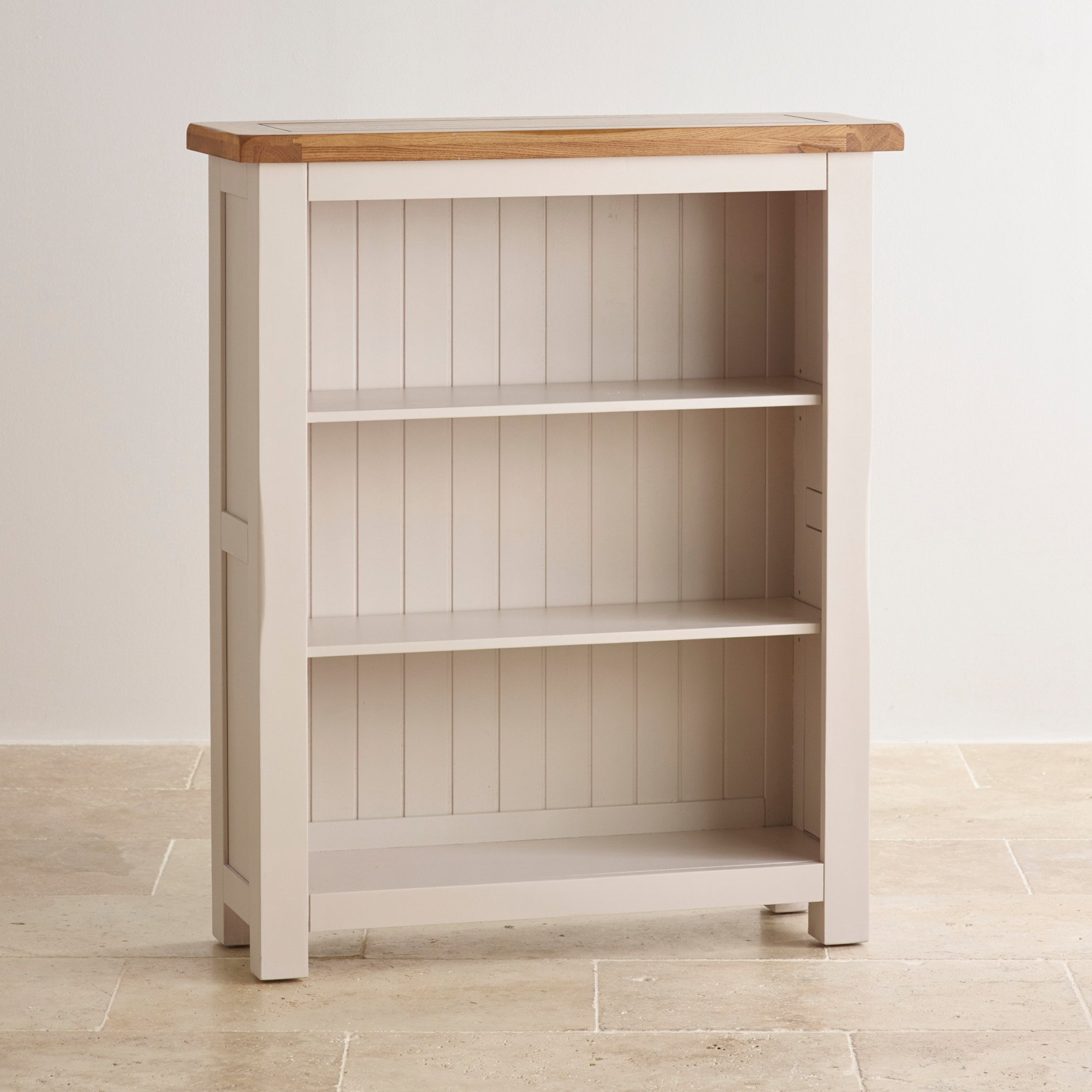 Low Wooden Bookcases ~ Kemble small solid oak bookcase