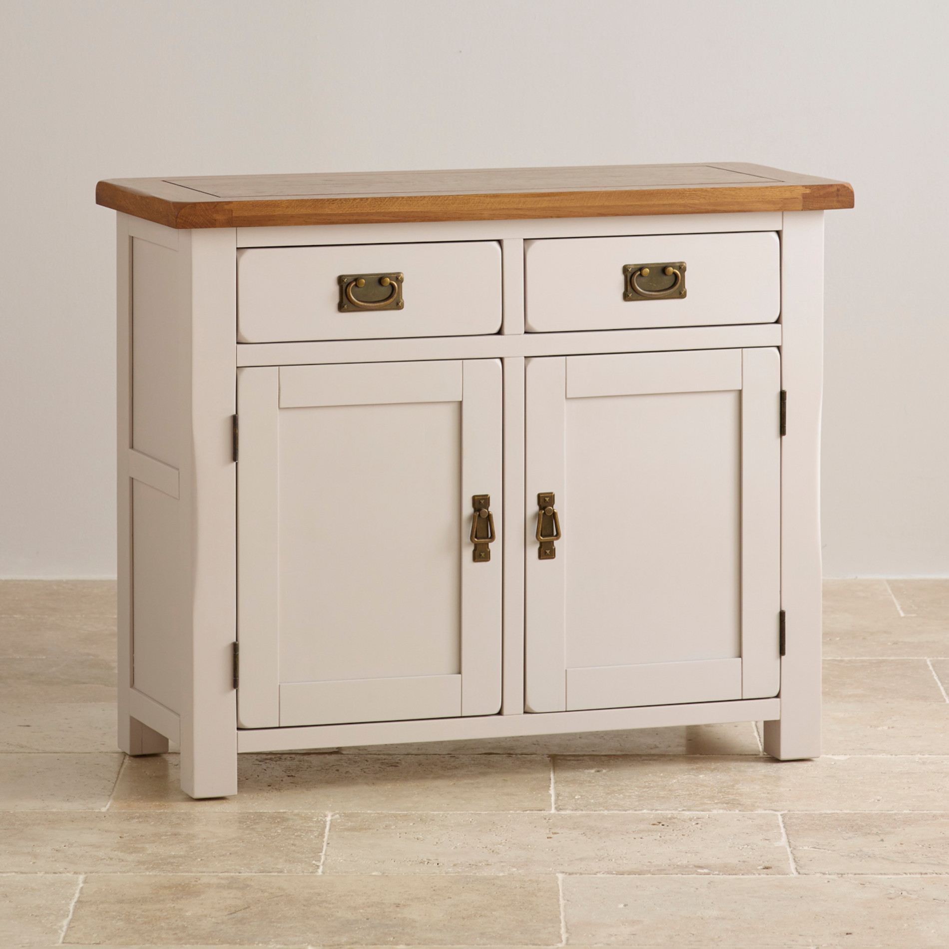 Kemble small painted sideboard in rustic solid oak for Painted buffet sideboard