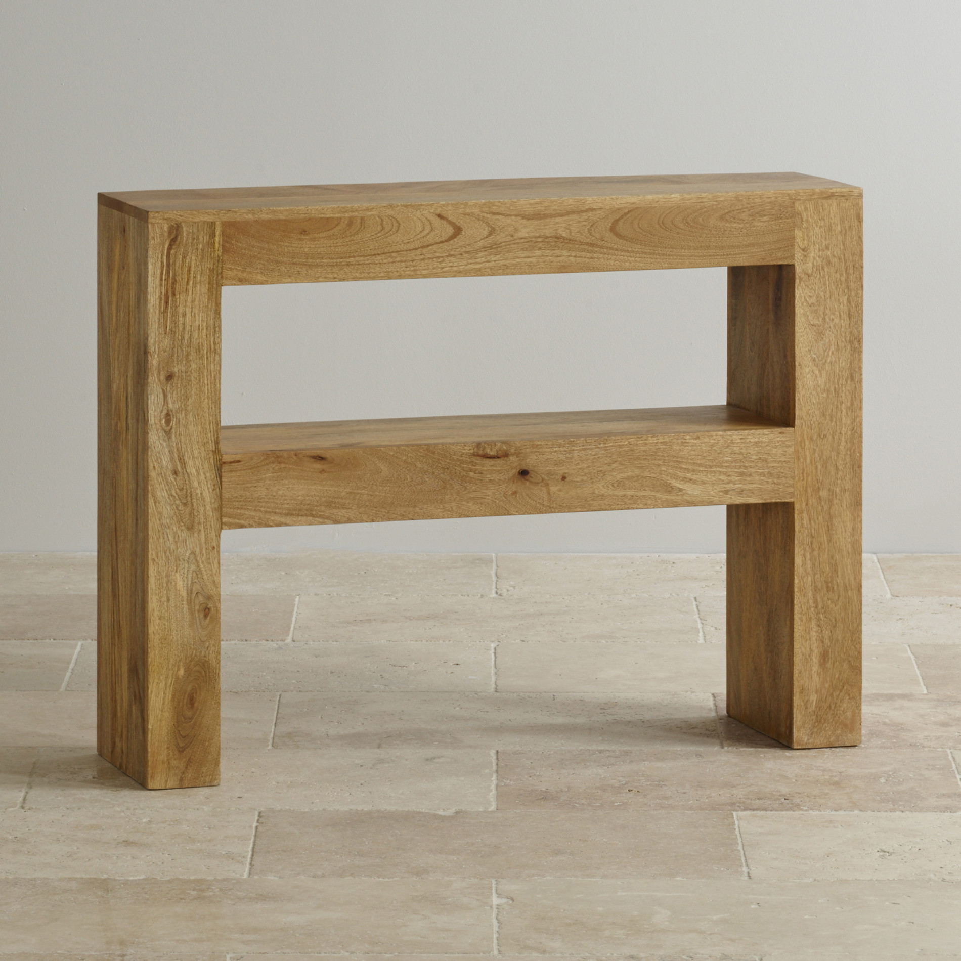 5 Console Table ~ Mantis light console table in solid mango oak furniture land