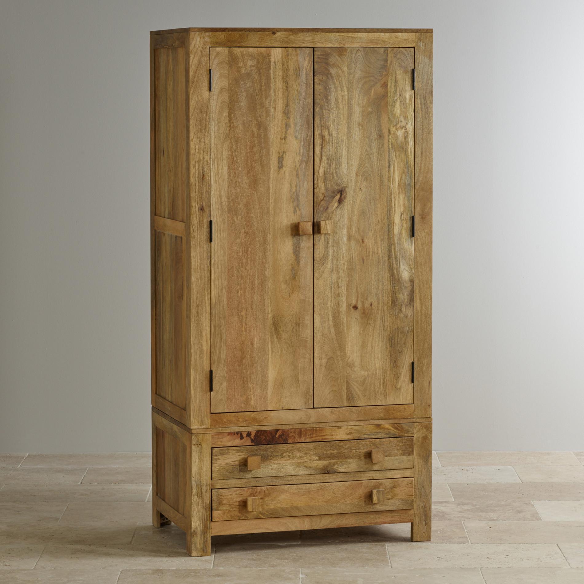 Mantis Light Double Wardrobe In Solid Mango Oak Furniture Land