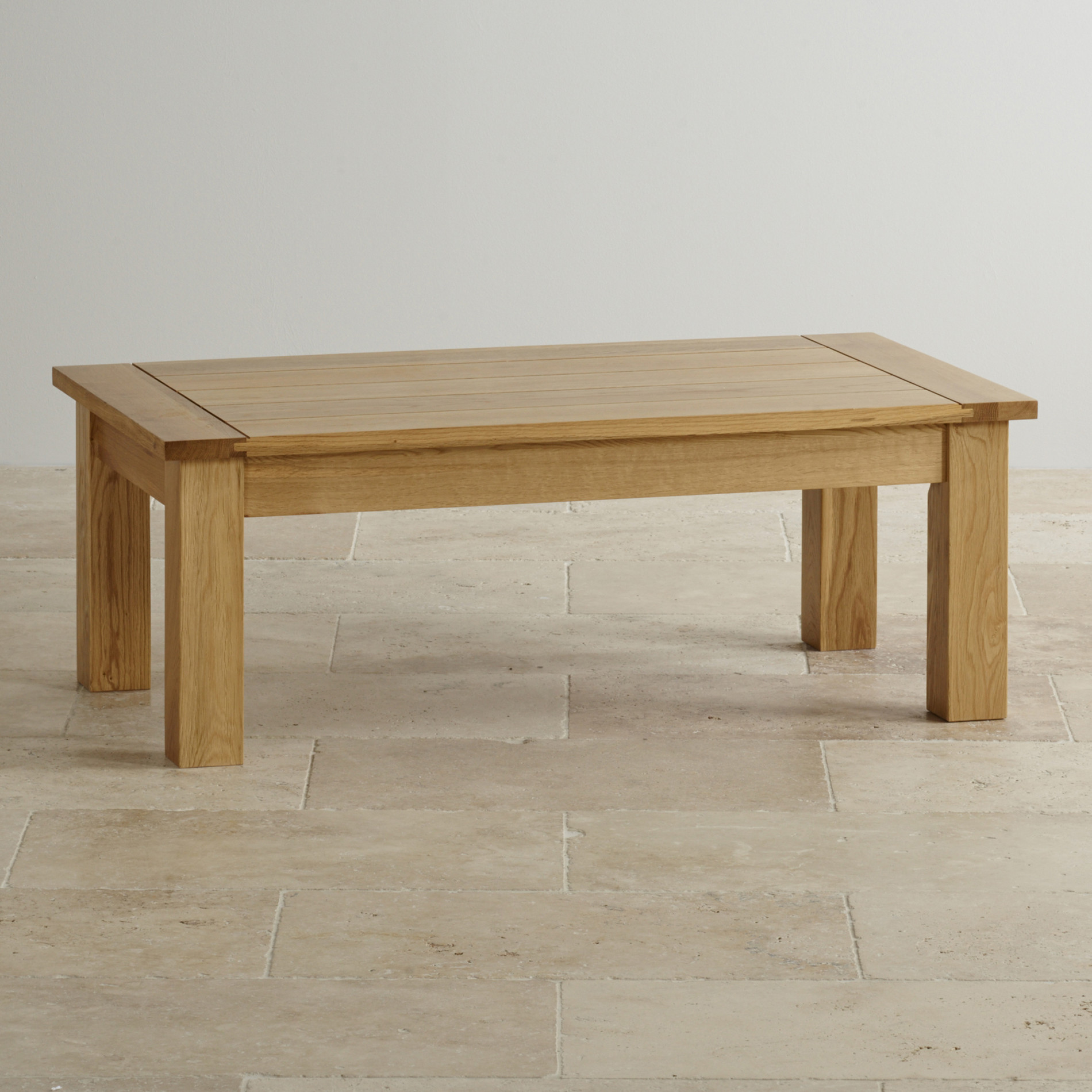 Contemporary Coffee Table In Natural Solid Oak