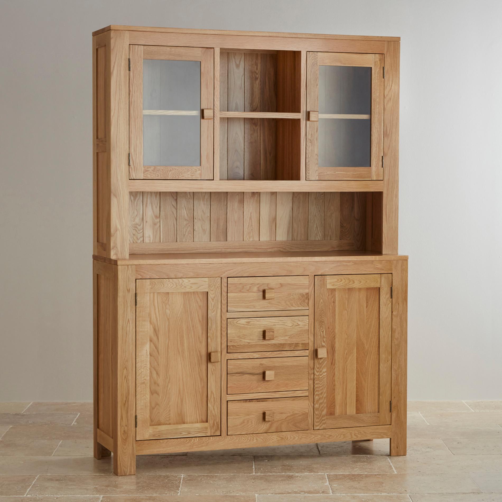 Oakdale Large Welsh Dresser In Natural Solid Oak