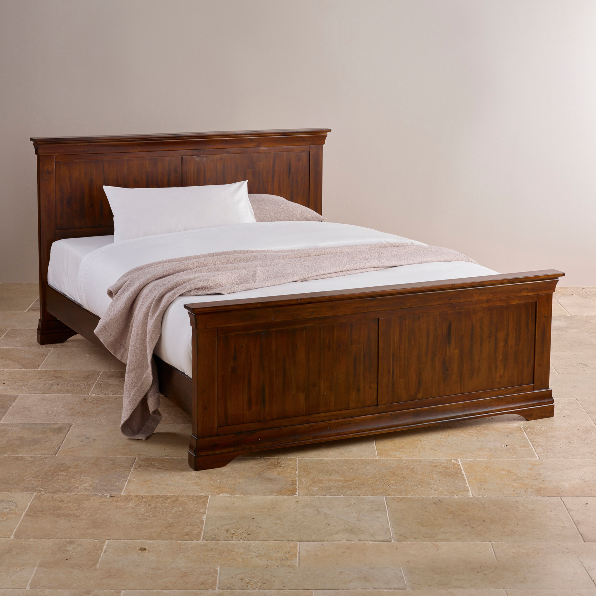 """Custom Delivery Victoria Solid Hardwood 4ft 6"""" Double Bed"""