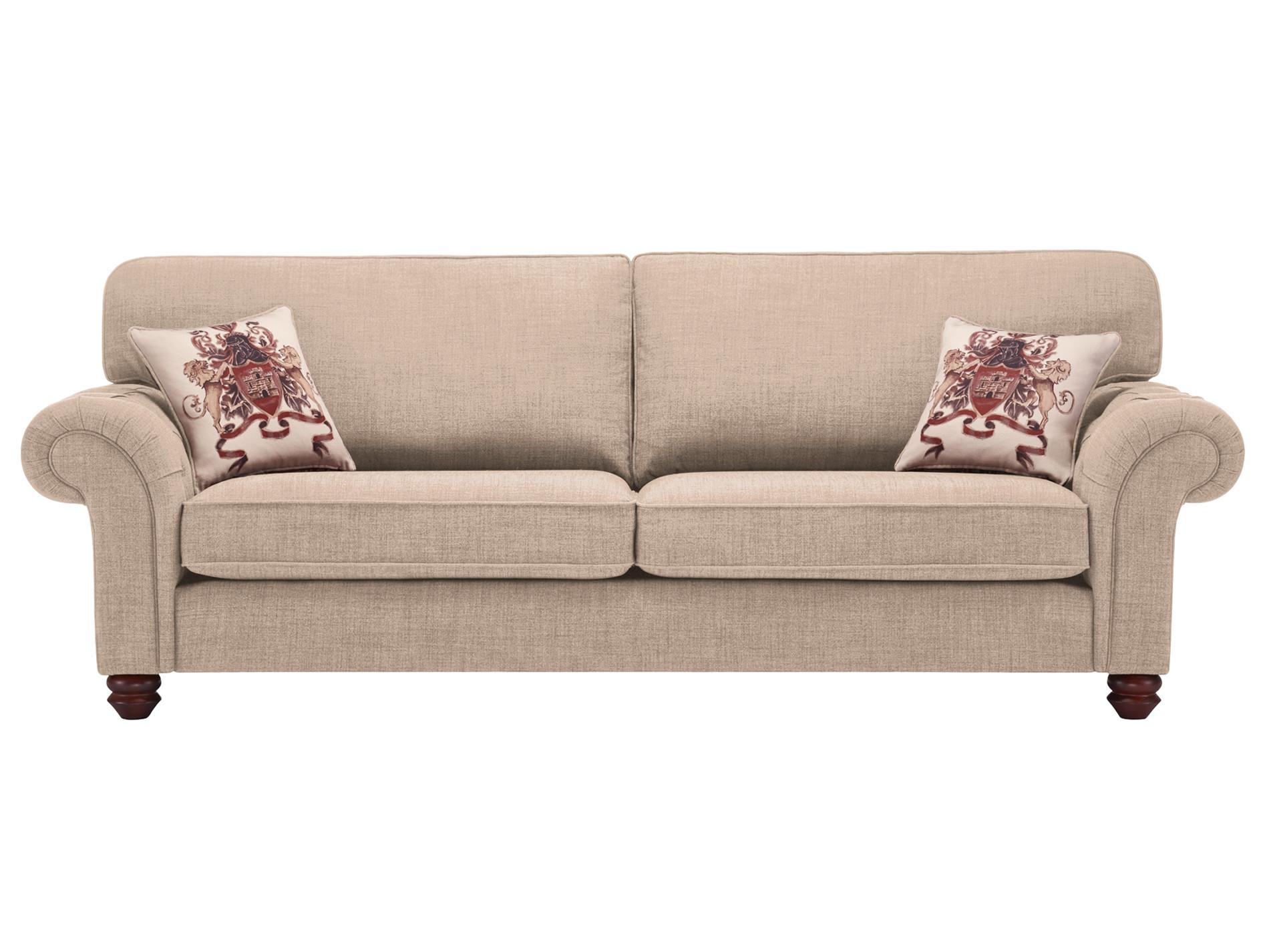 sandringham 4 seater high back sofa in beige with beige. Black Bedroom Furniture Sets. Home Design Ideas