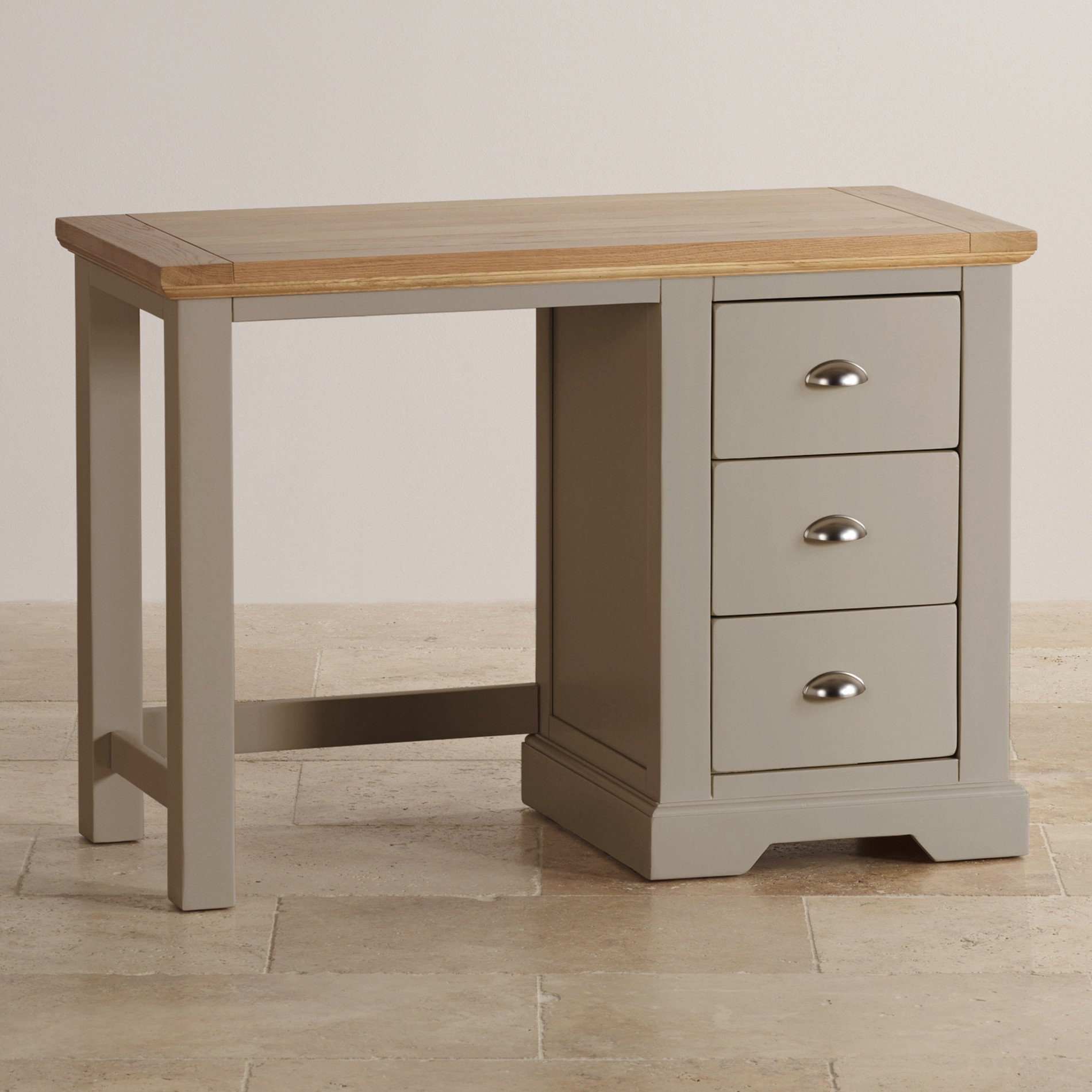 Natural oak and light grey painted dressing table