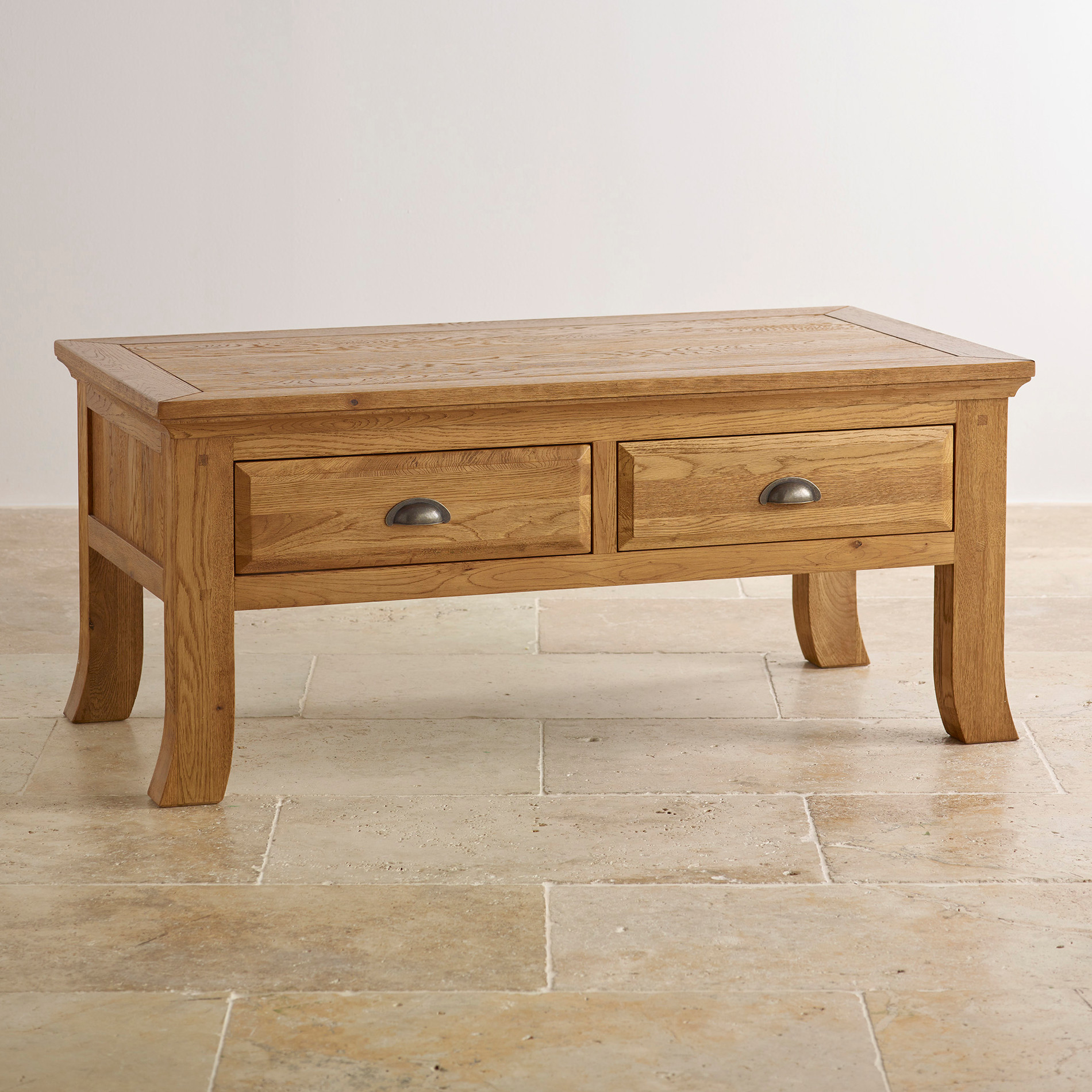 Oak Furniture Living Room Taunton Coffee Table With Storage In Rustic Oak Oak Furniture Land