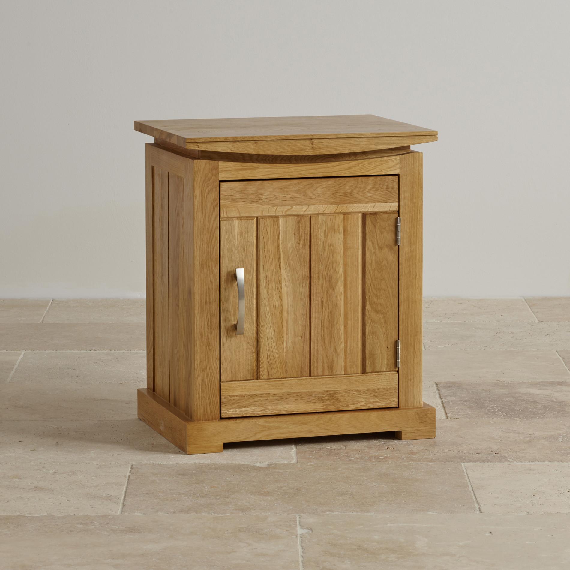 Tokyo natural solid oak bedside cabinet for Oak bedroom furniture 0 finance