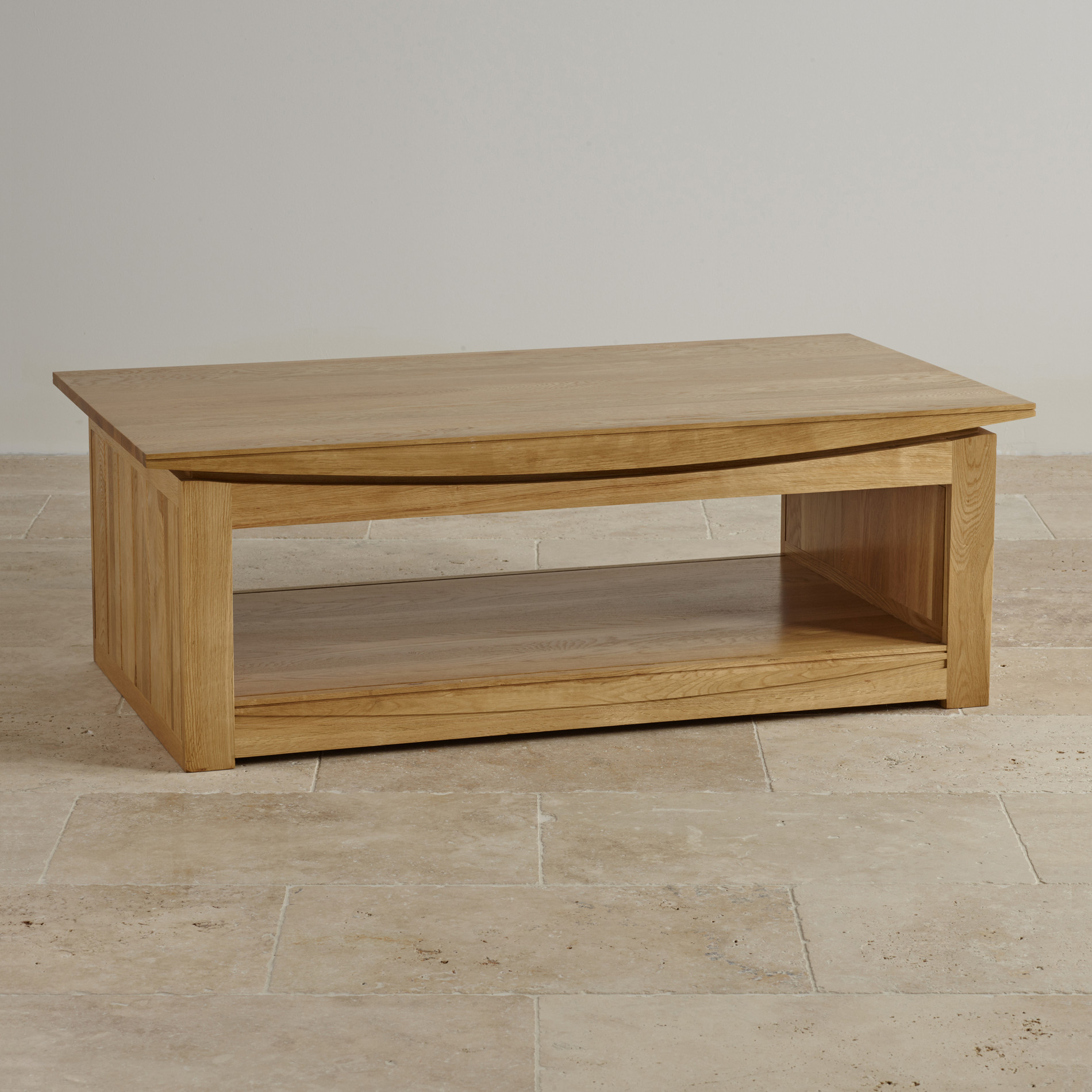 Oval Oak Coffee Table Uk: Tokyo Natural Solid Oak Large Coffee Table By Oak