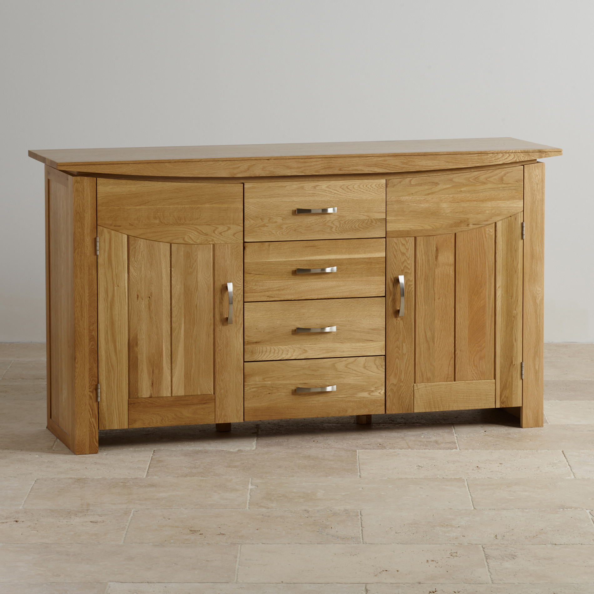 Tokyo large sideboard in natural solid oak oak furniture for Solid oak furniture