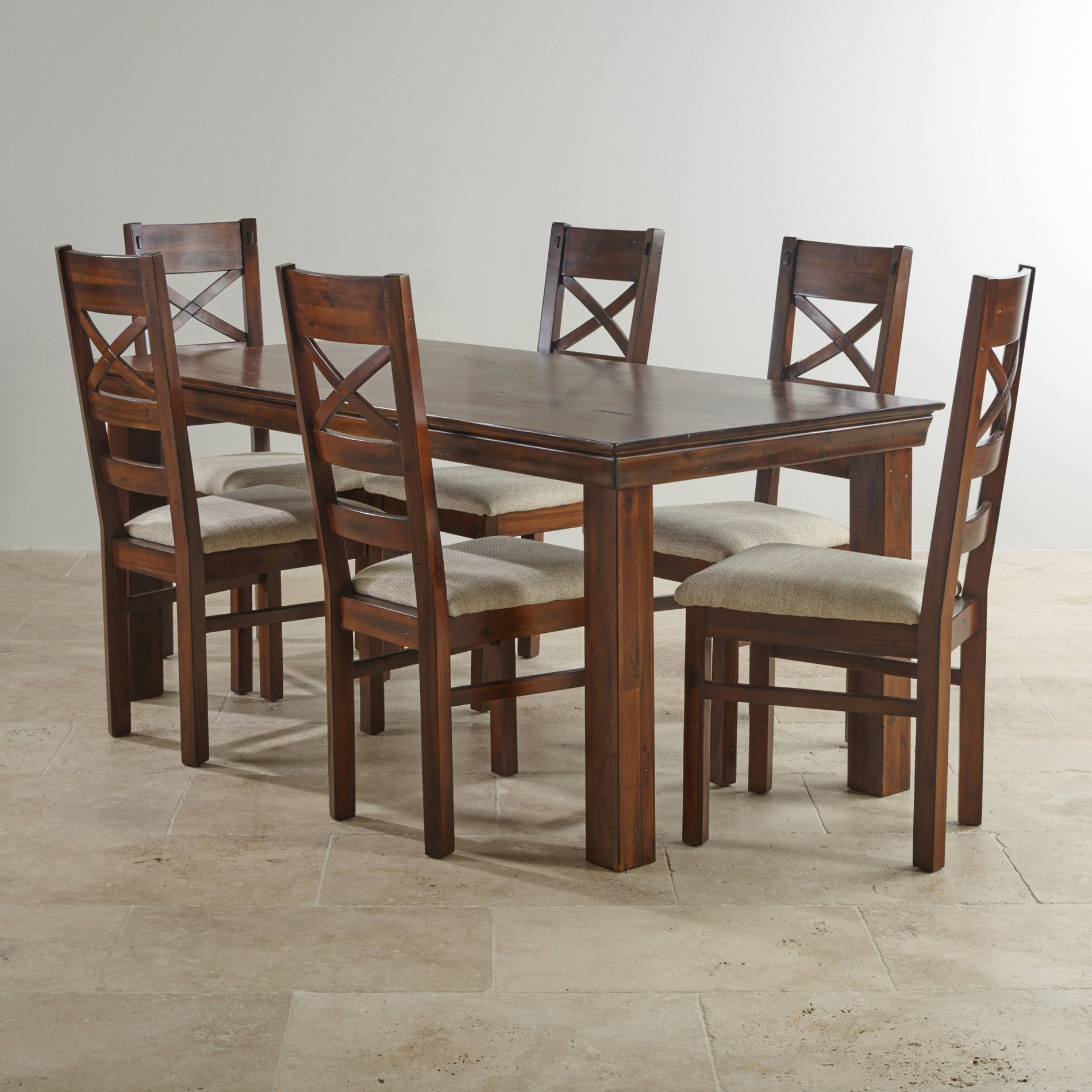 victoria solid hardwood dining set  ft table with  chairs -