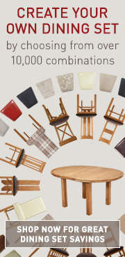Build a customer dining set with our Dining Set Builder