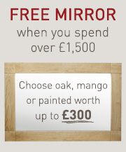 Free mirror when you spend over £1,500
