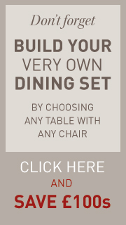 Build a custom dining set with our Dining Set Builder