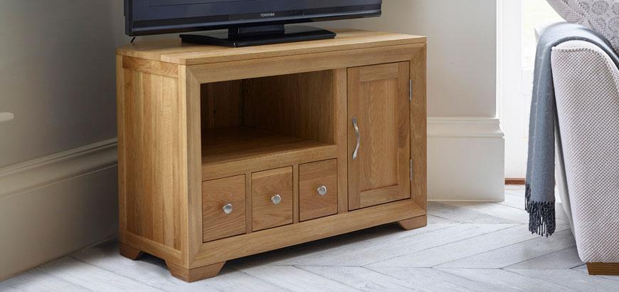 Bevel Corner TV Cabinet
