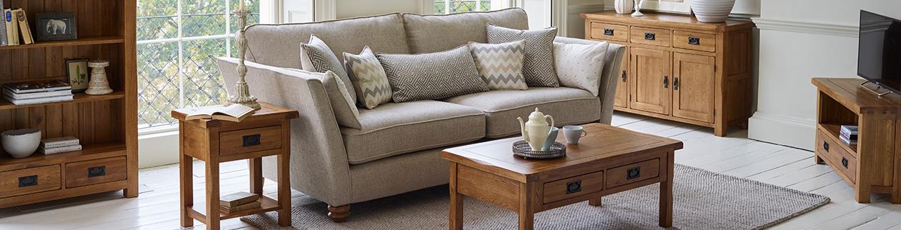 Rustic Farmhouse Living Room Design Ideas Oak Furnitureland