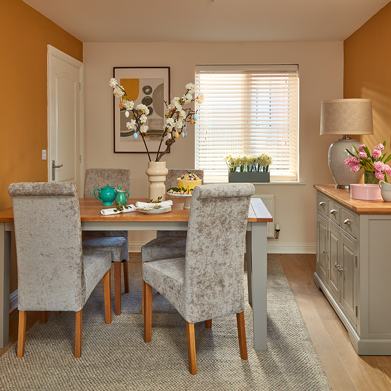 How to style grey dining room furniture for a modern update