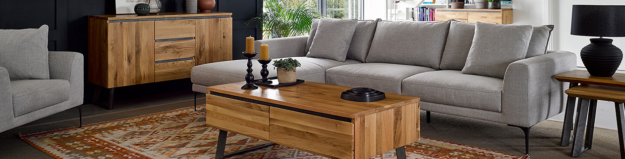 Industrial Living Room Furniture Guide Oak Furnitureland