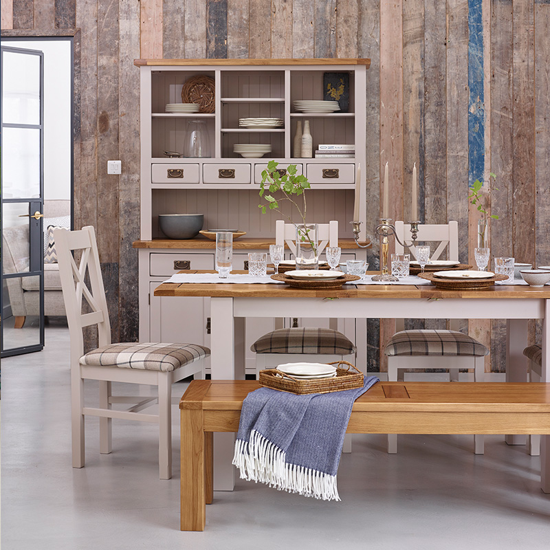 Create a vintage cottage dining space with furniture