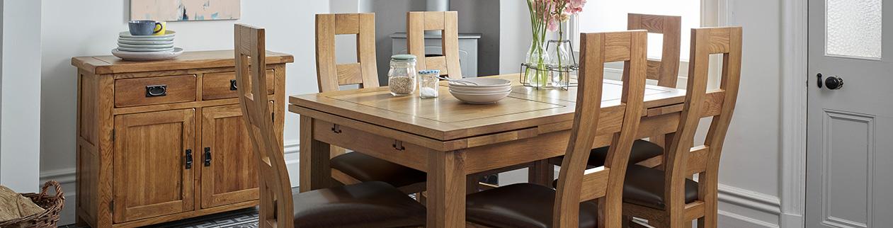 Rustic Dining Room Furniture Ideas Oak Furnitureland