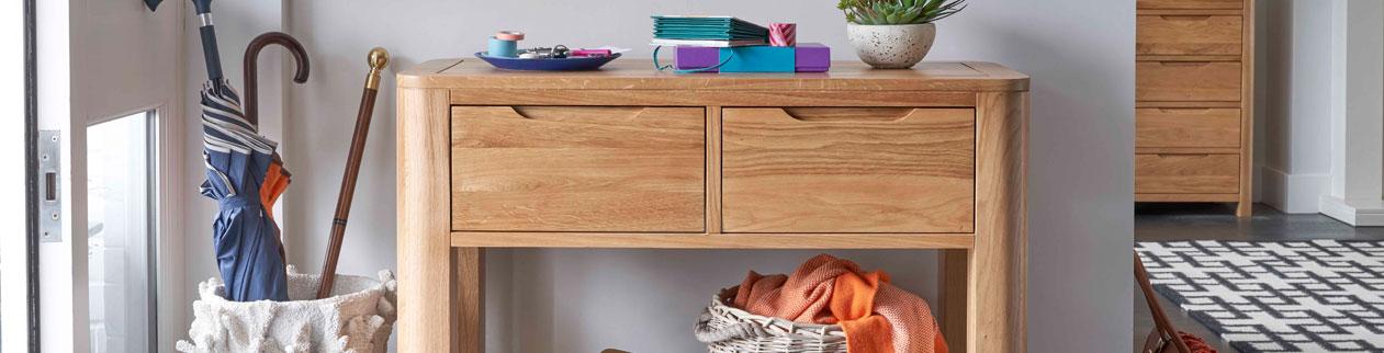oak console table romsey oak furnitureland