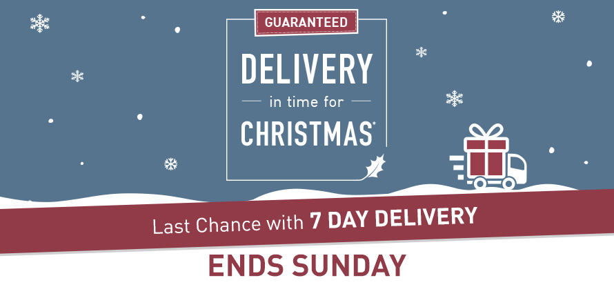 Order today for guaranteed Christmas delivery