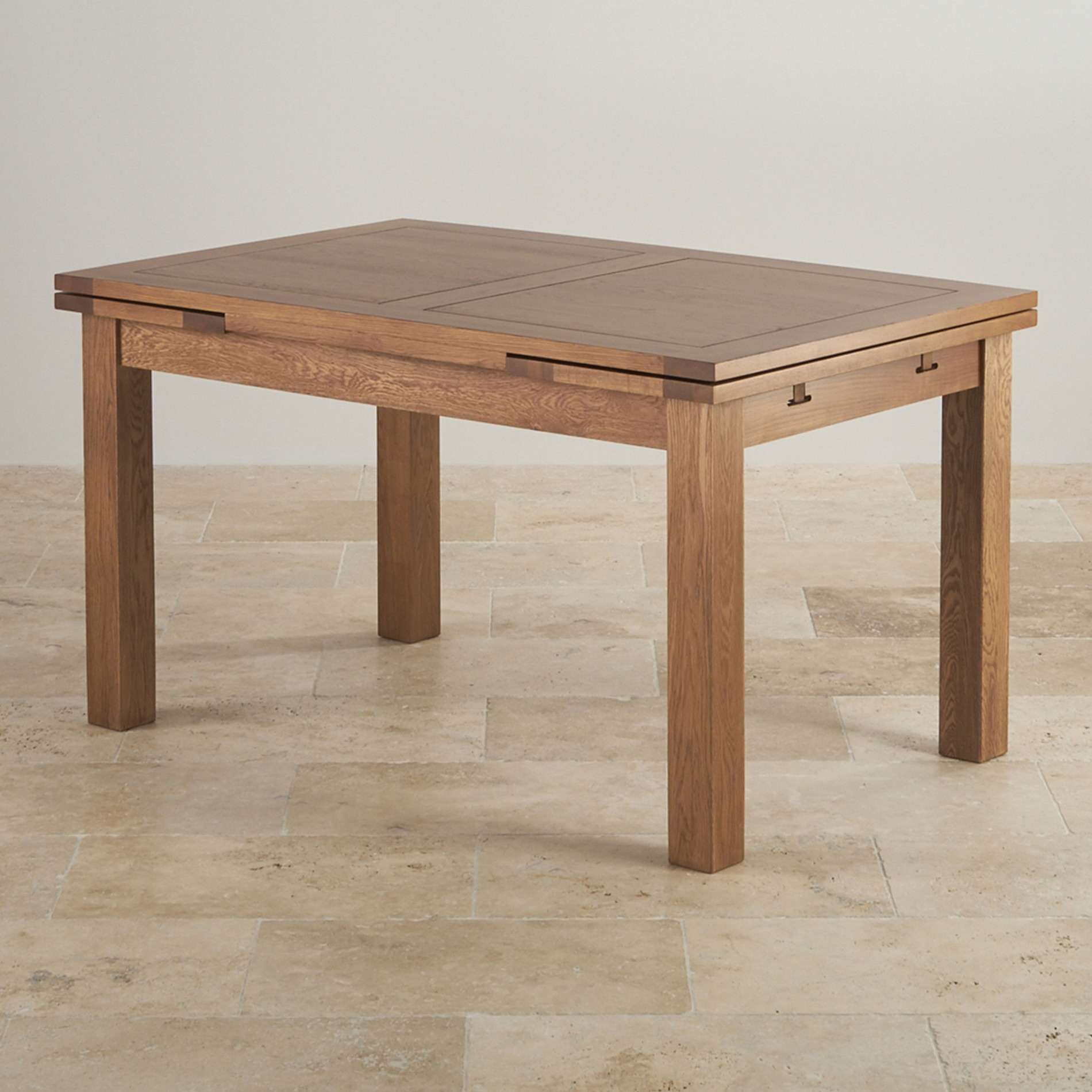 Ringgold Extendable Coffee Table With Storage: Rustic Extending Dining Table In Real Oak