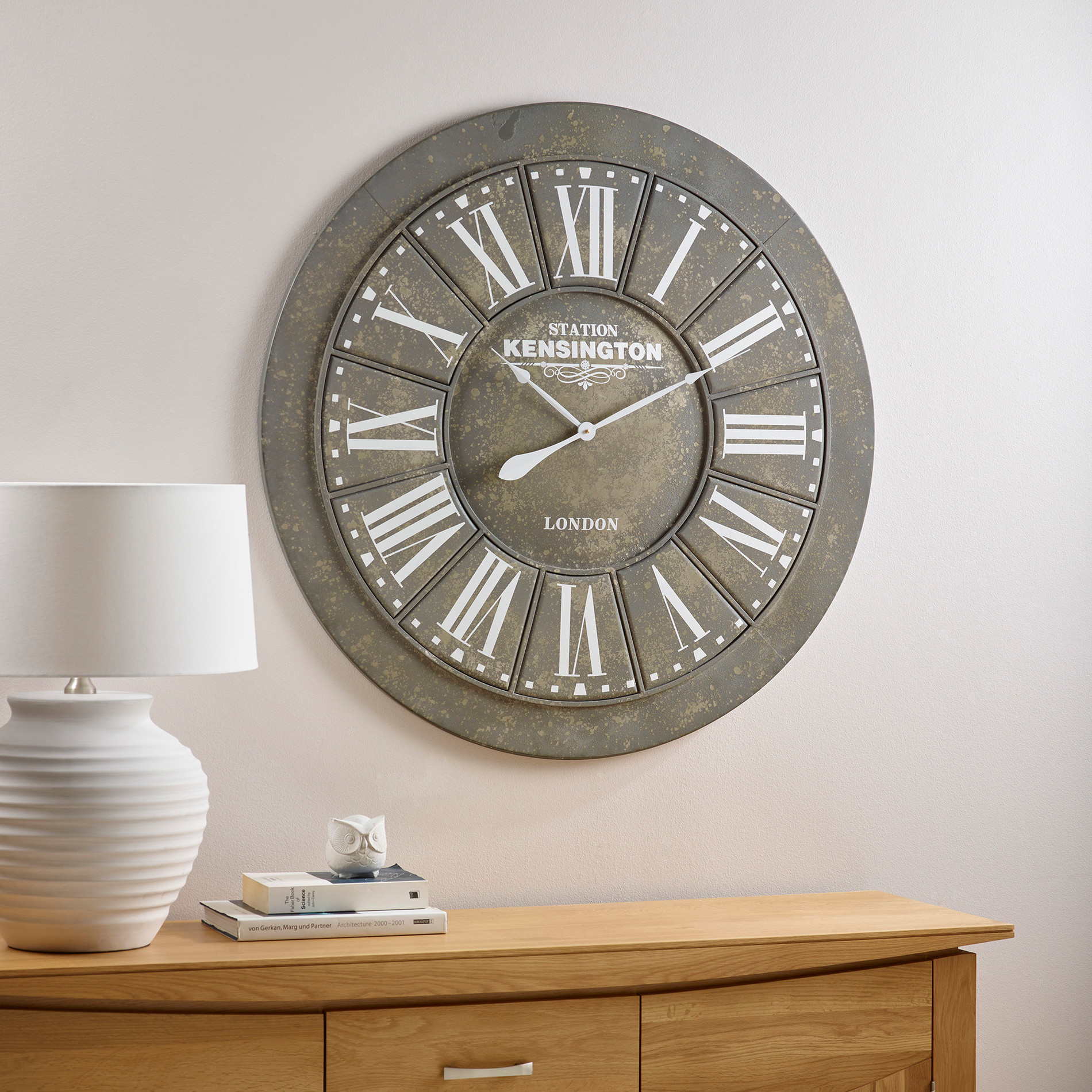 Albani Wall Clock By Oak Furniture Land