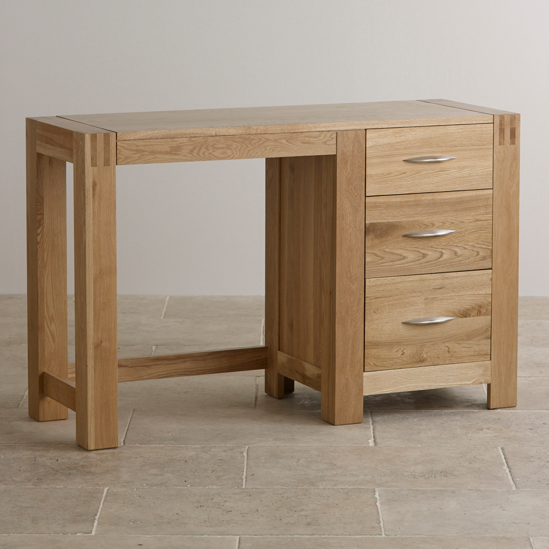 Alto dressing table in natural solid oak oak furniture land for Dining table dressing