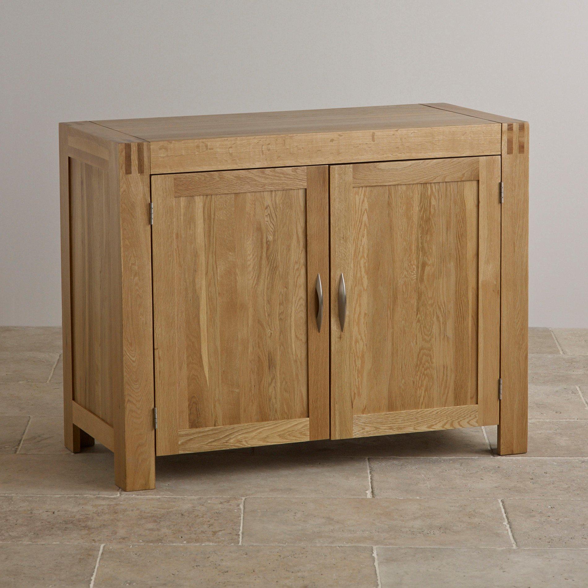 Alto Natural Solid Oak Small Sideboard Oak Furniture Land