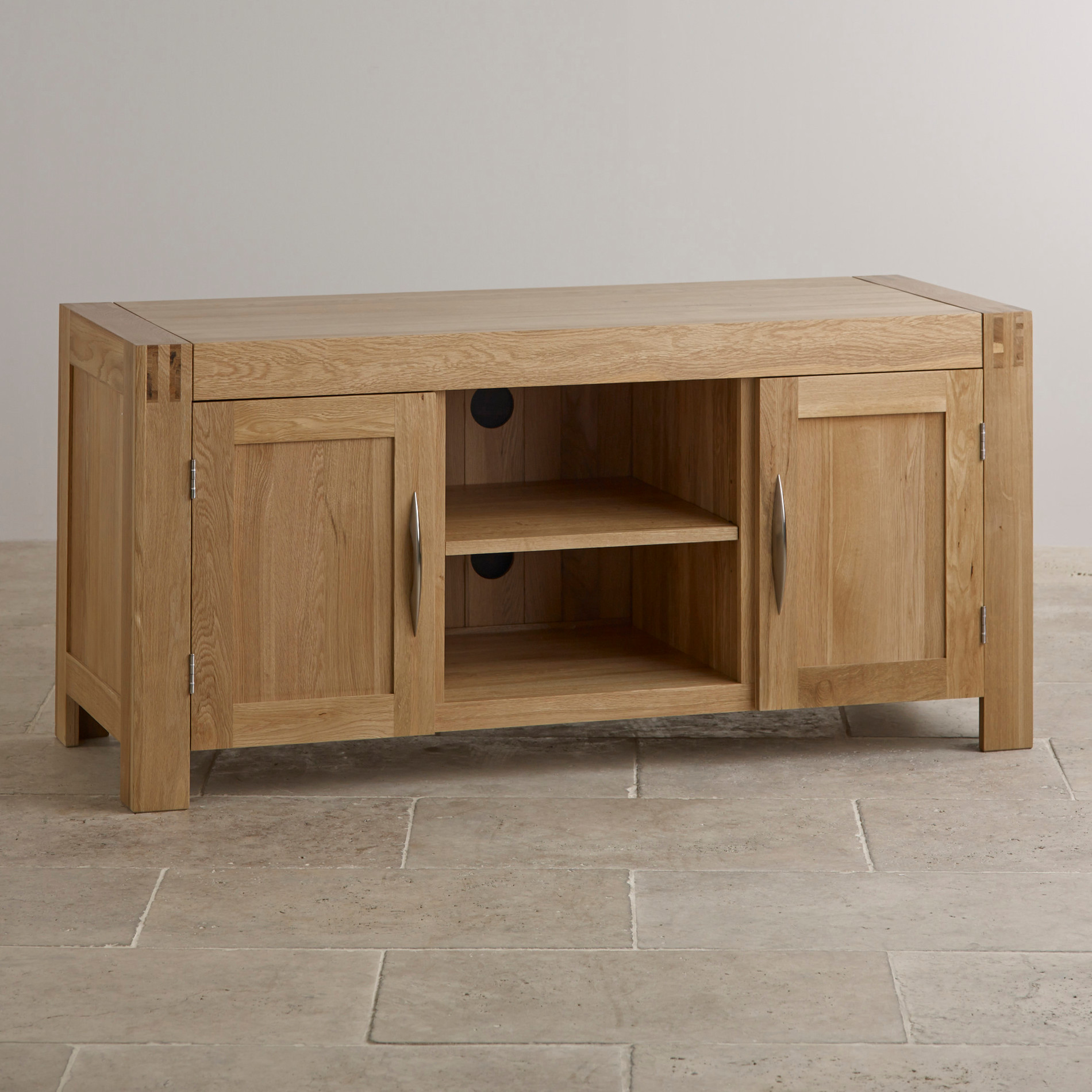 Alto Tv Cabinet In Solid Oak Oak Furniture Land
