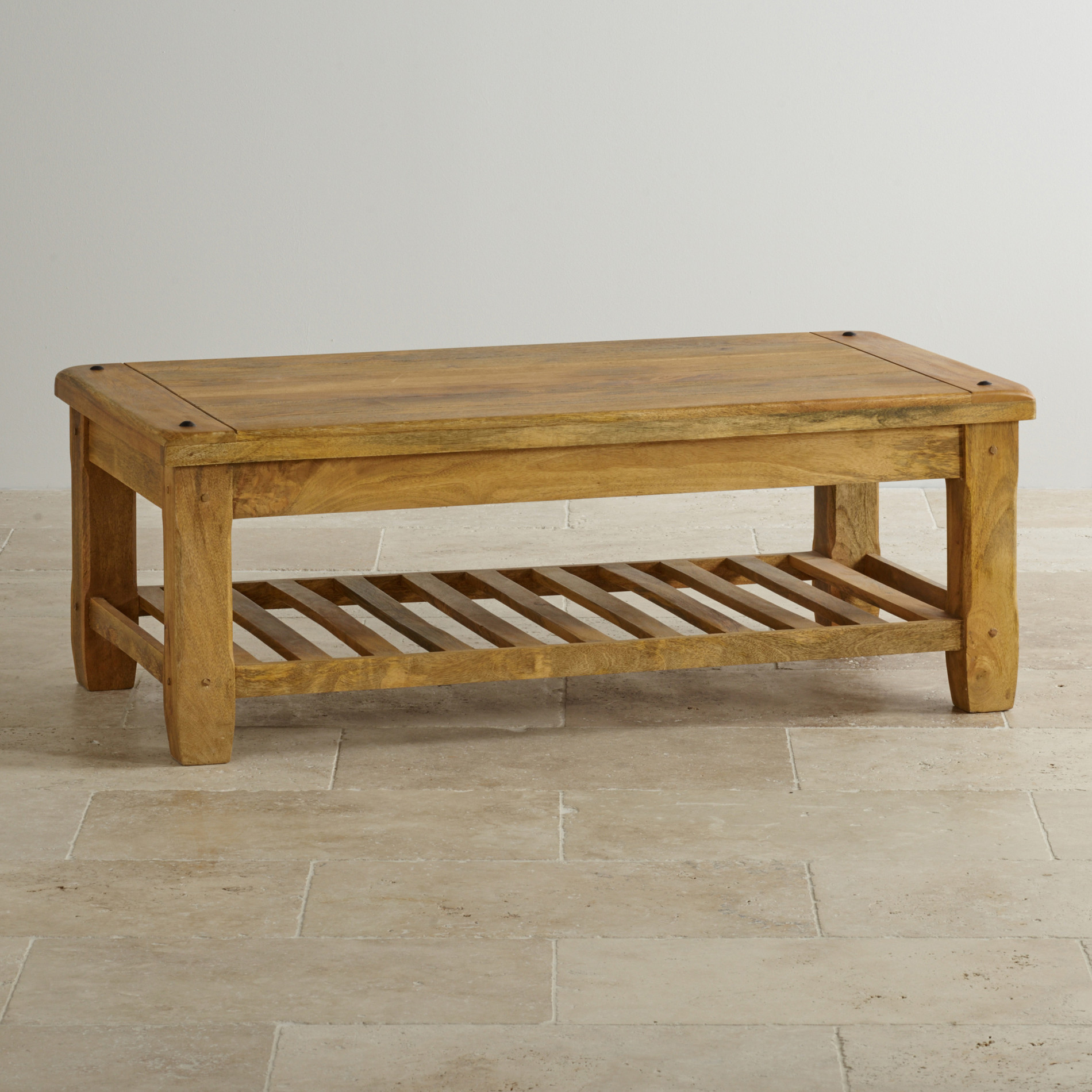 Baku Light Natural Solid Mango Coffee Table by Oak Furniture Land
