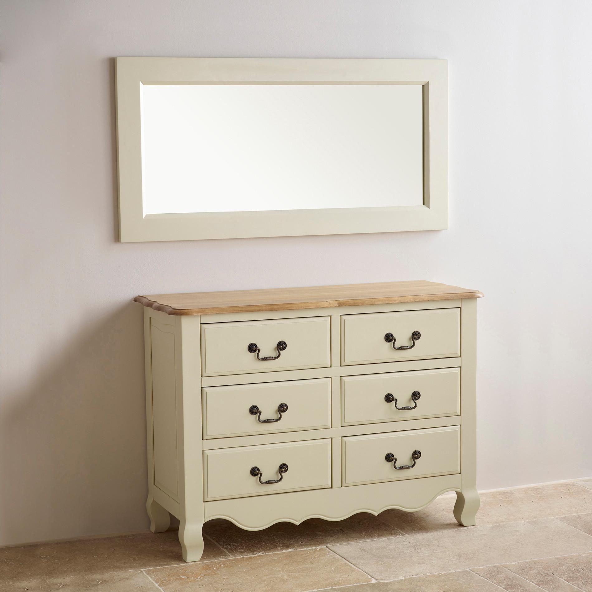 Bella painted wall mirror in brushed oak oak furniture land amipublicfo Images