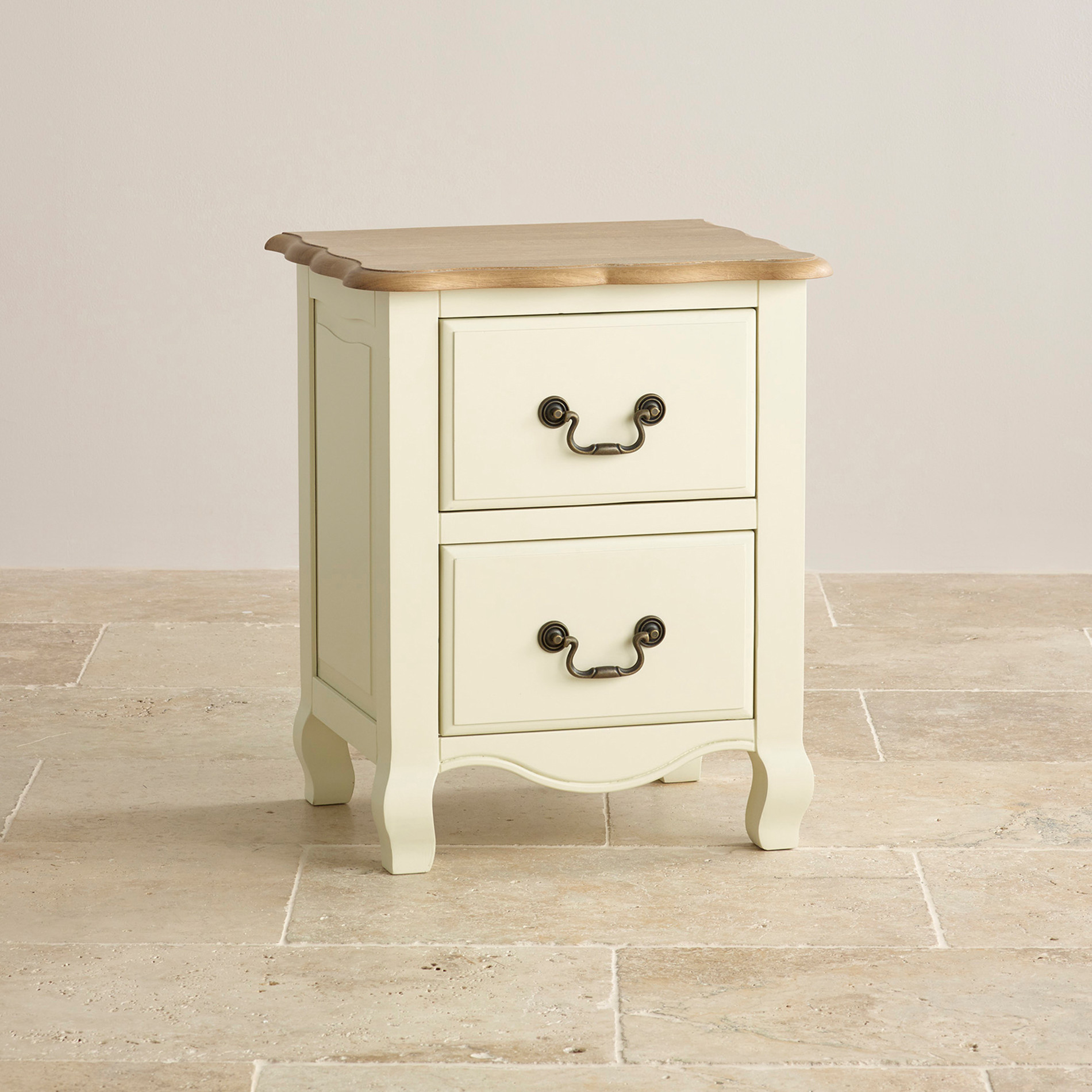bella brushed painted oak 2 drawer bedside cabinet. Black Bedroom Furniture Sets. Home Design Ideas