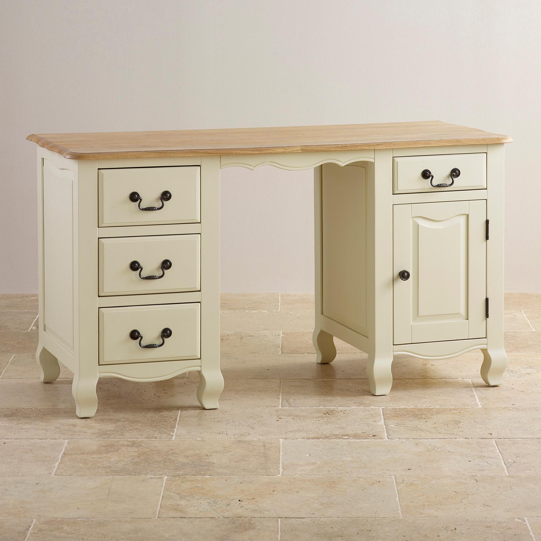 bella painted computer desk in brushed oak oak furniture. Black Bedroom Furniture Sets. Home Design Ideas