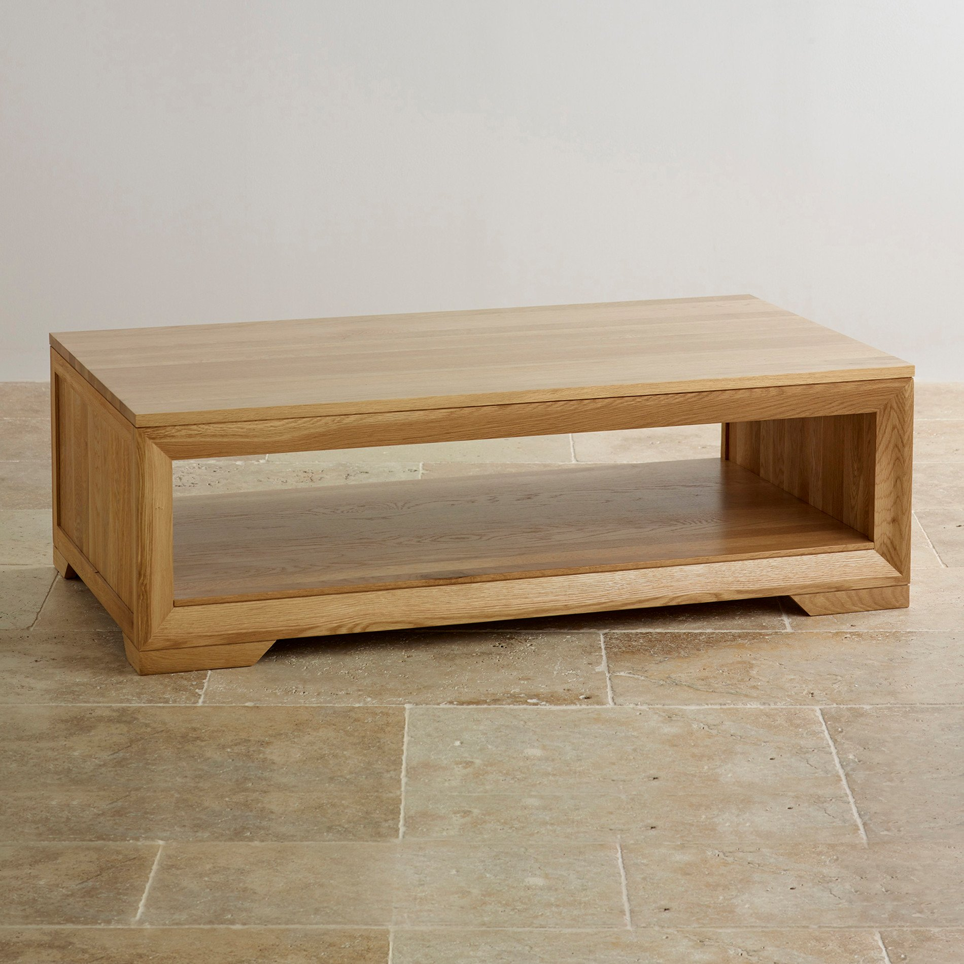 Bevel Coffee Table in Solid Oak Oak Furniture Land