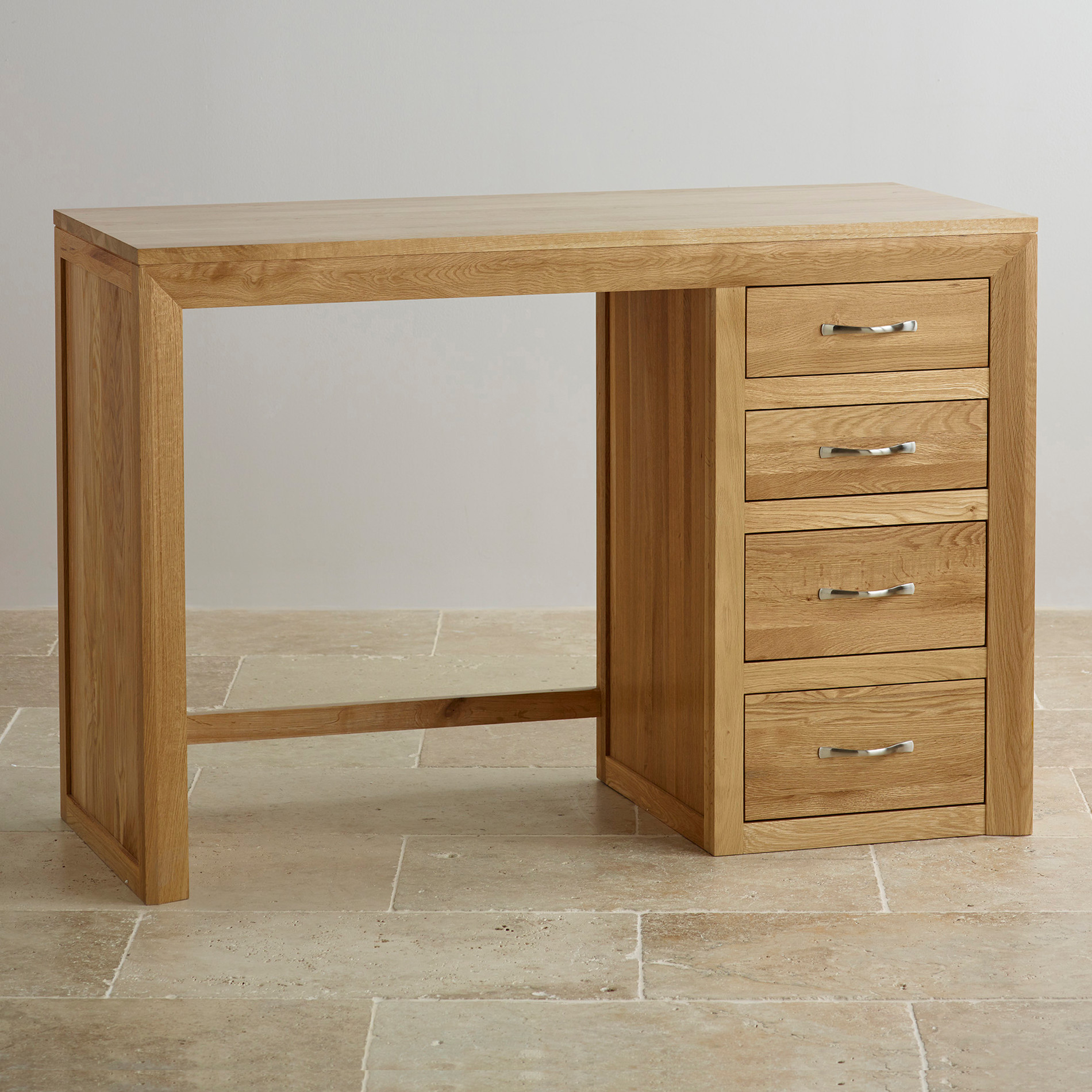 Bevel Natural Solid Oak Dressing Table By Oak Furniture Land
