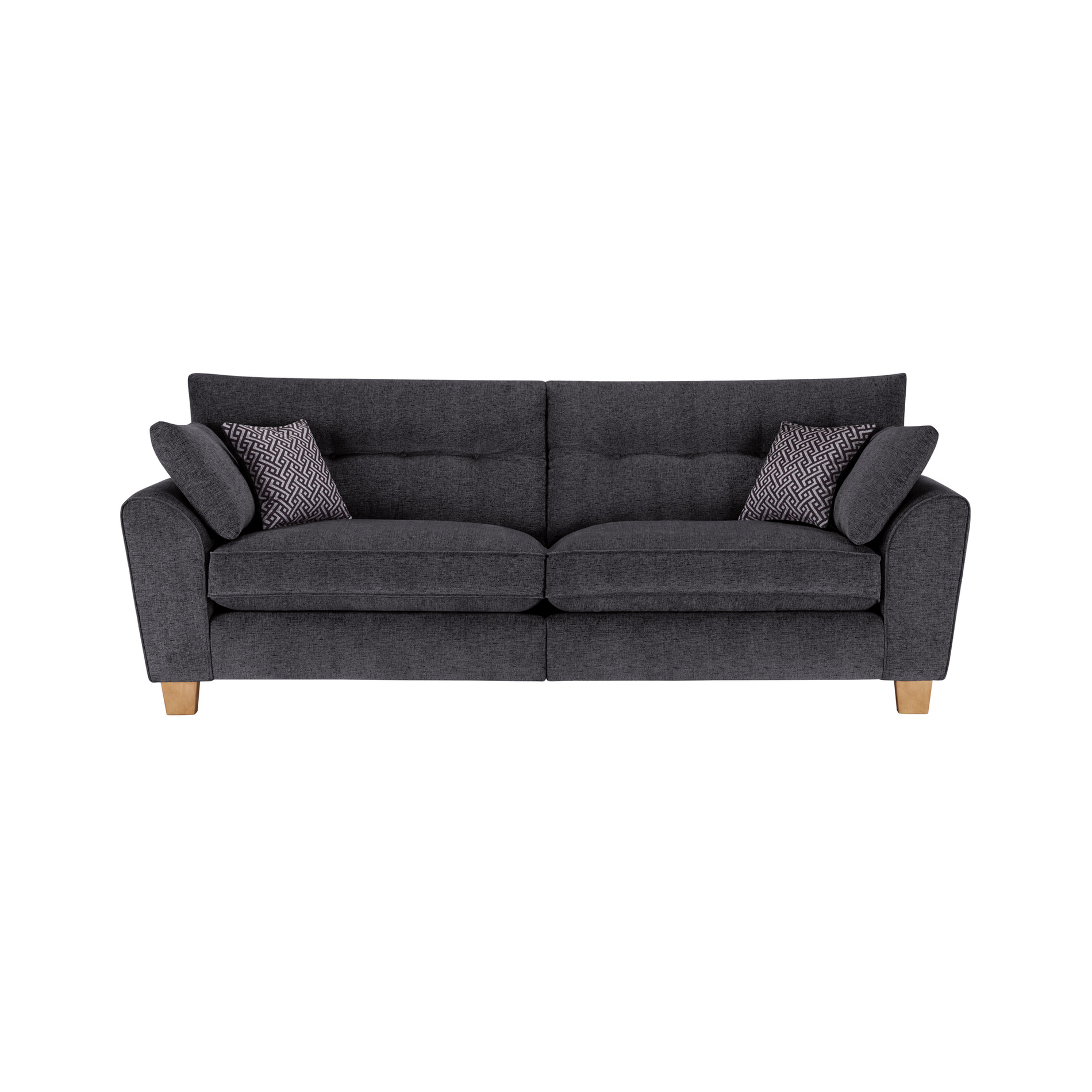 Brooke 2 Seater Sofa in Charcoal Grey Scatters