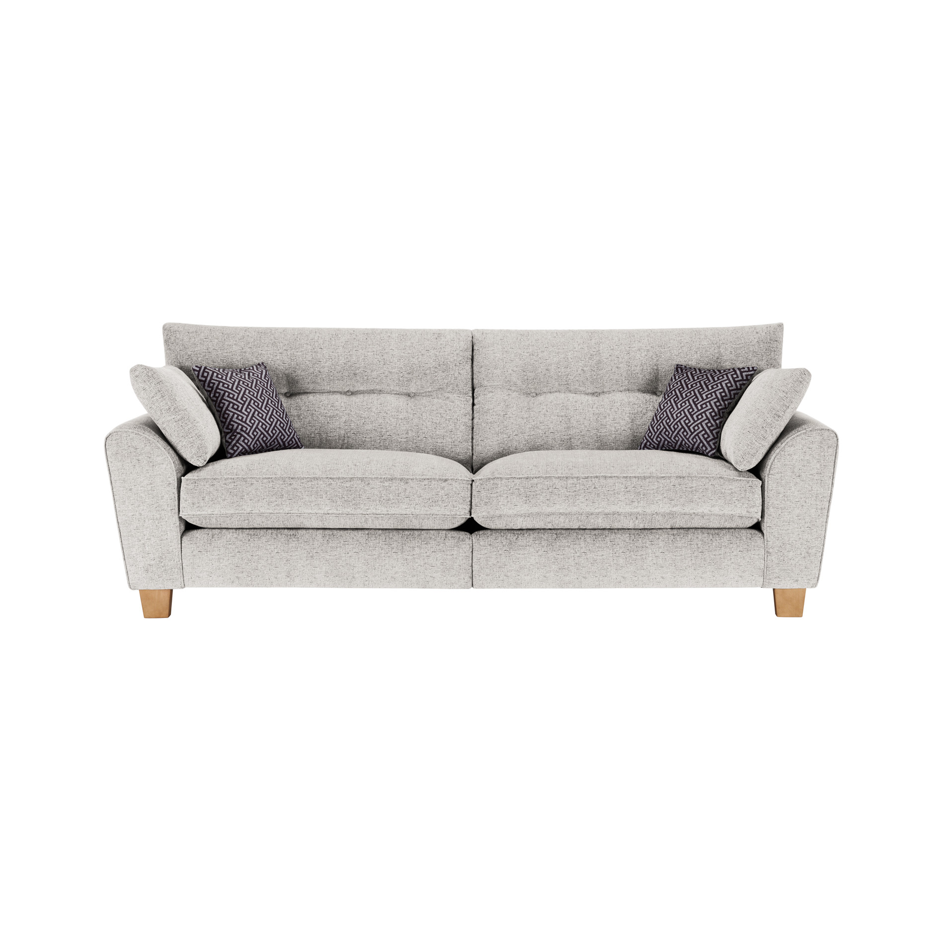 Brooke 4 Seater Sofa in Cream Grey Scatters